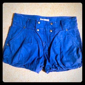 Zara bubble blue linen summer shorts 💙☀️